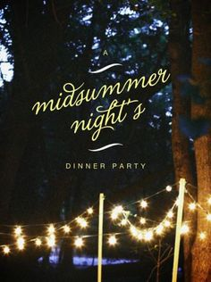 midsummer night's dinner party - LOVE this theme