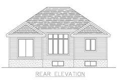 Rear Elevation of Plan 48292