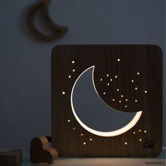 pokój dziecka - lampy-lampka księżyc