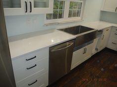 Crystal White LG Viatera Quartz Kitchen Countertops For The Herron Family!  Knoxvilleu0027s Stone Interiors.