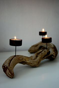 16 Driftwood Candle Holder Styles And Items Required! - Top Craft Ideas 16 Driftwood Candle Holder Styles And Items Required!