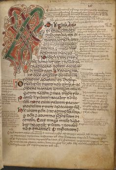 book of kells,  housed at Trinity College, Dublin. Ancient Celtic illuminated book of the 4 gospels, written in Latin