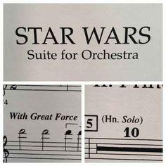 This Star Wars sheet music.