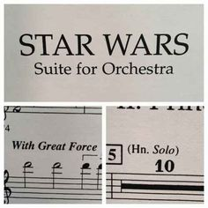 This Star Wars sheet music.