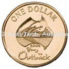 Aust-Tech, Australia. 2002 Australian Decimal 1 dollar Coin - Year of the Outback
