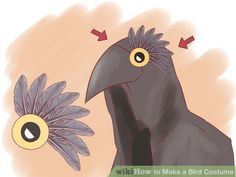 How to Make a Bird Costume. You don't have to spend a lot of money to get the perfect costume. Bird costumes, in particular, can be pretty easy to make if you have a bit of time and patience. Some costumes are more complex than others,. Bird Wings Costume, Raven Costume, Black Costume, Twin Halloween, Halloween 2016, Halloween Costumes, Halloween Ideas, Newt Scamander Costume, Boy And Bird