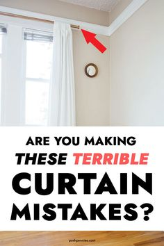 Rustic Home Interior Stop making these mistakes when you hang your curtains! Your house will thank you for it. Home Interior Stop making these mistakes when you hang your curtains! Your house will thank you for it. Hanging Drapes, Hanging Curtain Rods, Curtains Living, Drapes Curtains, Gypsy Curtains, Bathroom Curtains, Blackout Curtains, Outdoor Drapes, Ceiling Draping