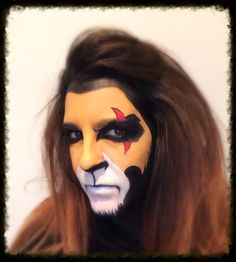 Scar from the lion king face paint