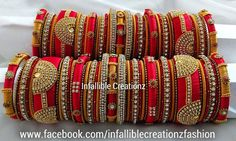 Popular Necklaces For Girlfriends Chuda Bangles, Kundan Bangles, Silk Bangles, Bridal Bangles, Silk Thread Bangles Design, Thread Jewellery, Fashion Jewellery, Beaded Necklace Patterns, Jewelry Patterns