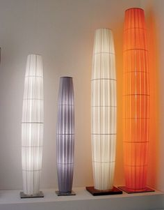 Fabric Floor Lamp COLONNE by DIX HEURES -- DIX Design: Fabrice Berrux Overhead Lighting, Patio Lighting, Lighting Design, Lighting Ideas, Let Your Light Shine, Light Up, Chandelier Lamp, Chandeliers, Indoor Crafts