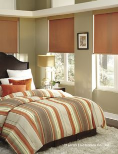 A simple pop of color can brighten up any bedroom.