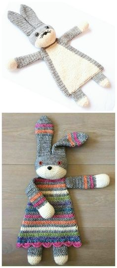 Crochet Darling Bunny Ragdoll Pattern - Crochet Baby Easter Gifts Patterns - Second Crafting Crochet Gratis, Crochet Diy, Crochet For Kids, Ravelry Crochet, Crochet Ideas, Crochet For Easter, Crochet Baby Toys, Crochet Bunny, Baby Blanket Crochet