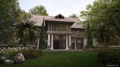 Bolgatty Palace front view by Ajai Pk