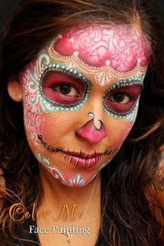 Delicate Day of the Dead/sugar skull Makeup #dayofthedead #sugarskulls #diadelosmuertos #sugarskullmakeup