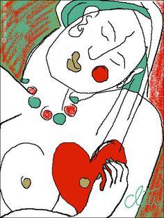 JACQUELINE DITT - Heart Break limitiert Original Grafik signiert  Herz Bilder