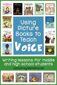 Using Picture Books to Teach Voice in Writing Voice. It's in every good piece of writing, but it's a tad elusive when it comes to defining and teaching. Writing that connects with readers has voice. Writing that makes you feel em… 4th Grade Writing, Middle School Writing, Writing Classes, Writing Lessons, Teaching Writing, Writing Activities, Reading Resources, Teaching Tools, Writing Prompts