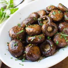 Balsamic Dijon Roasted Mushrooms