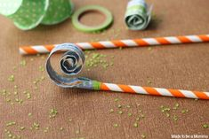 Diy Paper Straw Blowers - Made To Be A Momma