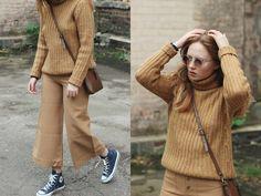 Kristina Magdalina - Sunglassla Sunglasses, Rosegal Pants - Beige Wide Pants