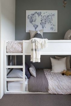 Kids' Room Makeover – Mood Board & Gameplan We're taking on a new space.a kids' room! Today we share our kids' room mood board and the full gameplan for this space. Lots of color and happiness in this little space! Boy And Girl Shared Bedroom, Shared Boys Rooms, Shared Bedrooms, Girls Bedroom, Kids Rooms, Diy Bedroom, Room Kids, Trendy Bedroom, Room For Two Kids