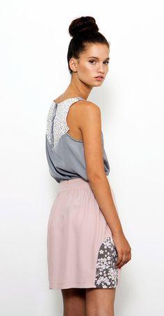 Spring Skirt, Pink Skirt, Circle Skirt, High Waist Skirt, Mini Skirt, Skirt With Pockets, A Line Skirt on Etsy, $93.73