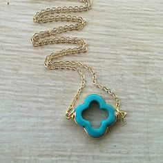 Check out this item in my Etsy shop https://www.etsy.com/listing/154976031/turquoise-four-leaf-clover-layering