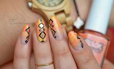 nail art dégradé géometrique
