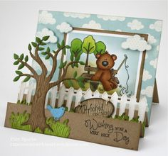 Stampfairy Fishing Bear by stampit74 - Cards and Paper Crafts at Splitcoaststampers