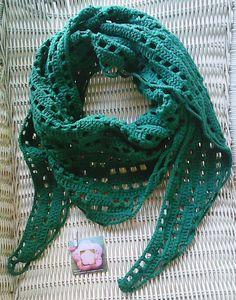 lenço em crochet