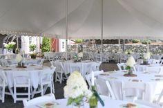 40x80 Century tent for a backyard wedding in Wilbraham, MA. Photo courtesy of @dani. fine photography