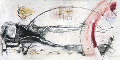 Estudo para composição abstrata. Monotipia guache, carvão, grafite e óleo sobre papel offset 120g. 23,5x45,5cm. 2016. #arte #art #monotipia #monotype #guache #carvao #gouache #charcoal #abstrato #abstract #art #expressionismo #expressionism #oleo #oil #grafite #graphite
