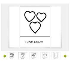 Hearts Galore printable activity