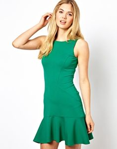 Closet Sleeveless Dress with Frill Hem