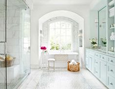 Mark Williams marble floors and walls. This is the look I love for the master bath.