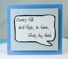 Encouragement Card Inspirational in Blue as Note by katndrewcards, $2.25
