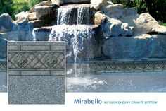 Mirabello w/ Smokey Gray Granite Bottom  Finally, a liner that isn't super tacky.