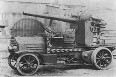 The SPA 9000 was a self-propelled gun used by Italy in World War I, featuring the 102/35 Model 1914 gun mounted on the back of a truck made by the auto manufacturer SPA.