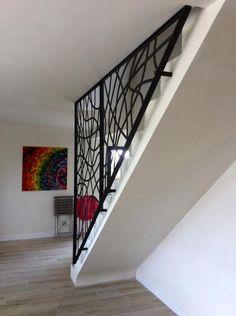 Garde-corps métallique - Art Métal Concept Stairs Design Interior, House Design, Railing Design, Glass Partition Designs, Staircase Railings, Wrought Iron Design, Country Interior, Stair Railing Design, Living Room Designs