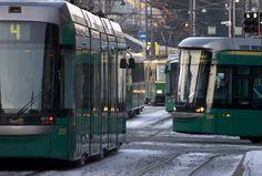 Trams in Helsinki (number 4 Munkkiniemi-Katajanokka)