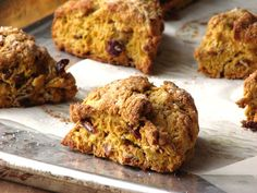 Delectably Mine: Pumpkin Scones with Cranberries and Pecans