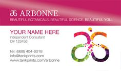 Arbonne Business Card Design 5 by cardsociety on Etsy