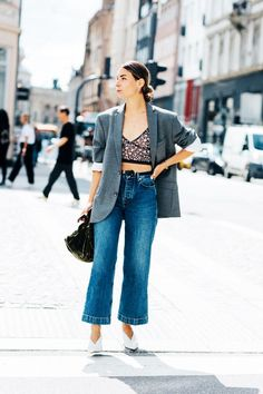 Cropped flare jeans started as a trend but have become a staple. See the rules fashion girls follow when shopping for and styling them here.
