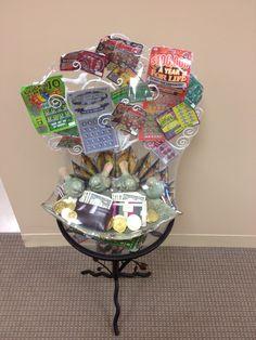 Lottery Tree raffle basket