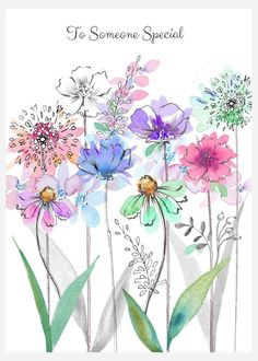 Leading Illustration & Publishing Agency based in London, New York & Marbella. Watercolor Flowers Tutorial, Pen And Watercolor, Watercolour Painting, Floral Watercolor, Painting & Drawing, Watercolors, Line Art Flowers, Flower Art, Watercolor Paintings For Beginners
