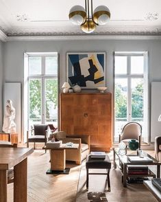 """Joanna Lavén (@joannalaven) on Instagram: """"French Art Deco Pimlico flat, pic by @andreasvoneinsiedel. Featured in @houseandgardenuk"""""""