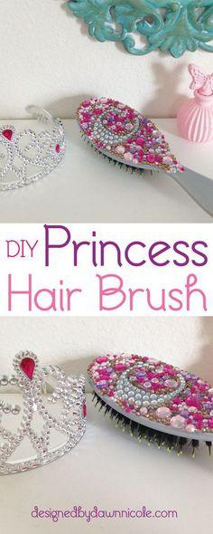 DIY Princess Hair Brush.