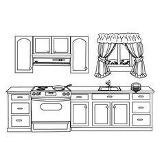 Kitchen_coloring page