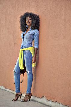 Denim on denim weekend wear! Outfit Details: Shirt: Option 1, Option 2, Option 3 | Jeans: Option...
