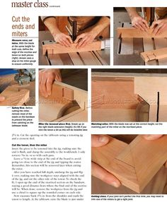 Pinned Miter Joint - Joinery