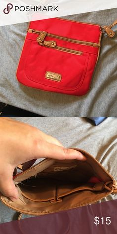 Kim Rogers scarlet over the shoulder purse Only used a couple of times! Really nice and bright color! Kim Rogers Bags Crossbody Bags